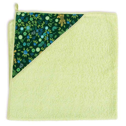 Okrycie kąpielowe bawełniane z kapturkiem 100x100 cm Ceba Baby Geco