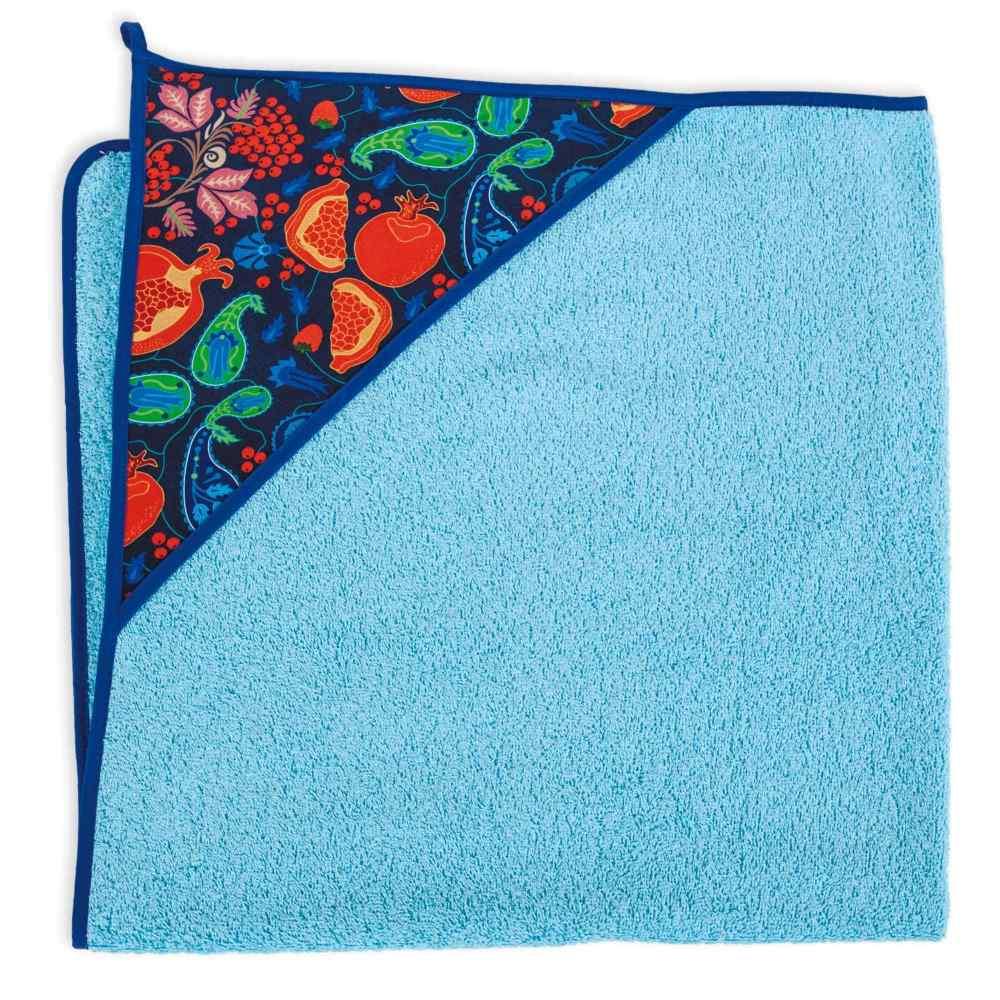Okrycie kąpielowe bawełniane z kapturkiem 100x100 cm Ceba Baby Grandas