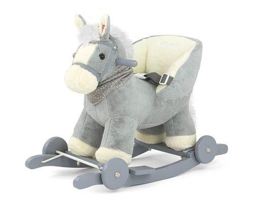 Konik na biegunach z oparciem koń na płozach i kółkach Polly Grey