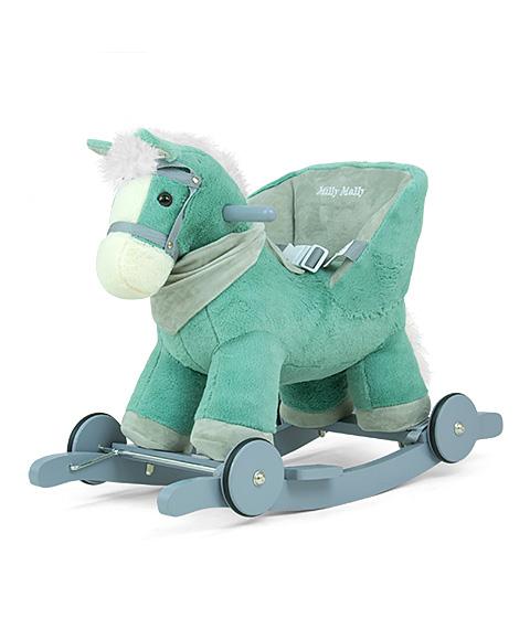 Koń na biegunach z oparciem dla małych dzieci  Płozy kółka Polly