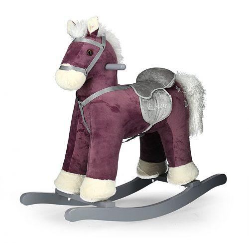 Koń ba biegunach konik bujany dla dzieci Fioletowy