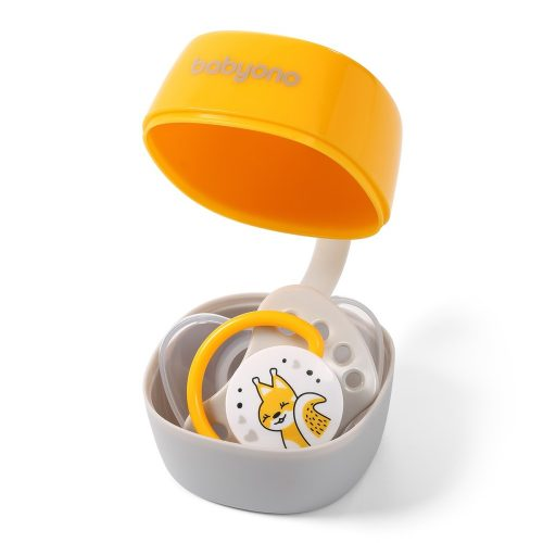 Pojemnik na smoczek uspokajający Natural Babyono żółty