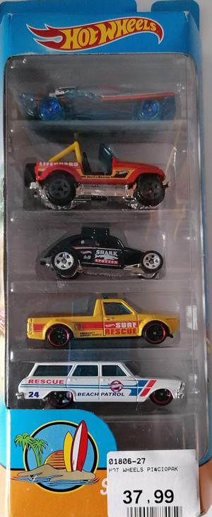 Hot Wheels zestaw 5 małych samochodzików pięciopak model 27
