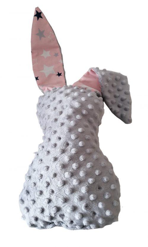 Przytulanka dla niemowląt maskotka Królik 57cm Amillo szary