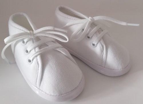 Lafel wiązane buciki niemowlęce białe 12