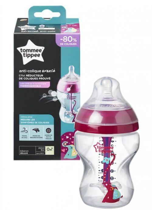 Butelka antykolkowa Tommee Tippee 260ml różowa