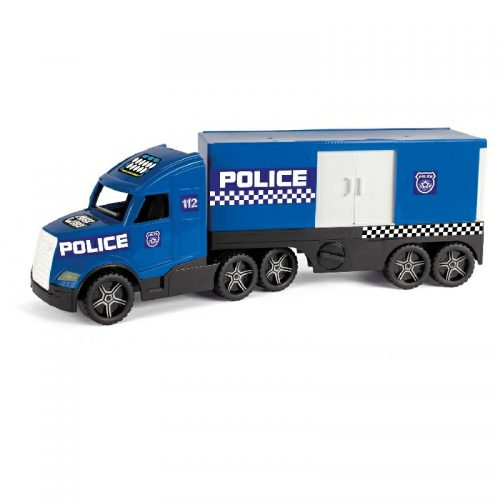 Duża cieżarówka policyjna świecąca w ciemności Wader 36200