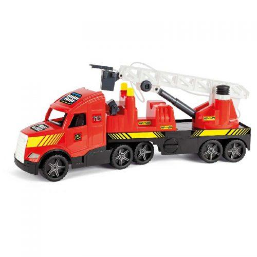 Duży truck cieżarówka świecąca w nocy Straż pożarna Wader 36220