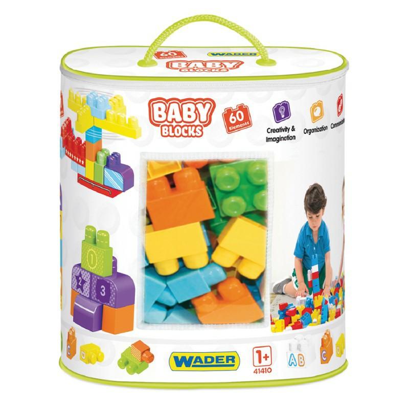 Torba z klockami Wader 41410 Baby Blocks