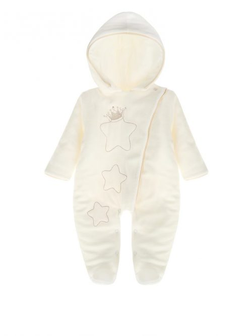 Welirowy pajac dla niemowląt Oscar Sofija rozmiar 62 Ecru