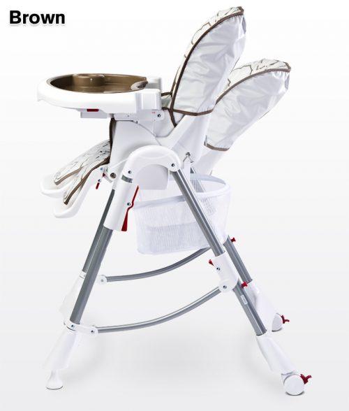 Krzesełko do karmienia regulacja wysokości tacka, Caretero  Mint
