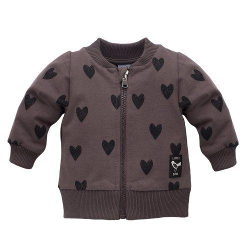Little Bird Pinokio bluza dla dziecka rozpinana 92 Brąz Serca