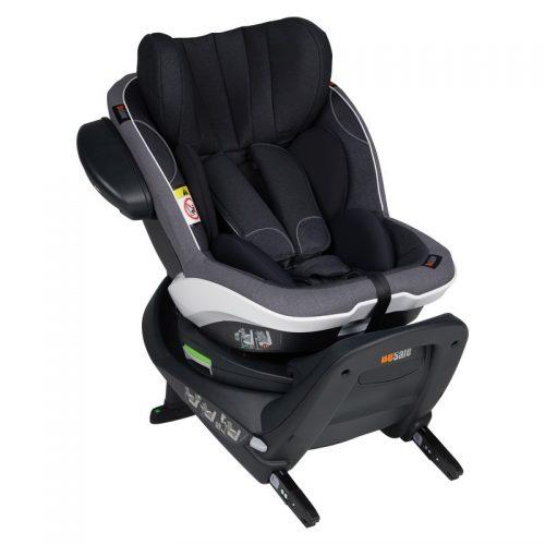 Fotelik samochodowy BeSafe iZi Twist i-Size 0-18 kg RWF, funkcja obrotu bokiem do drzwi, kolor Czarny Melange