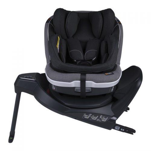 Fotelik samochodowy BeSafe iZi Twist B i-Size 0-18 kg ze specjalną wkładką dla noworodka, funkcja obrotu bokiem do drzwi, kolor Czarny Melange