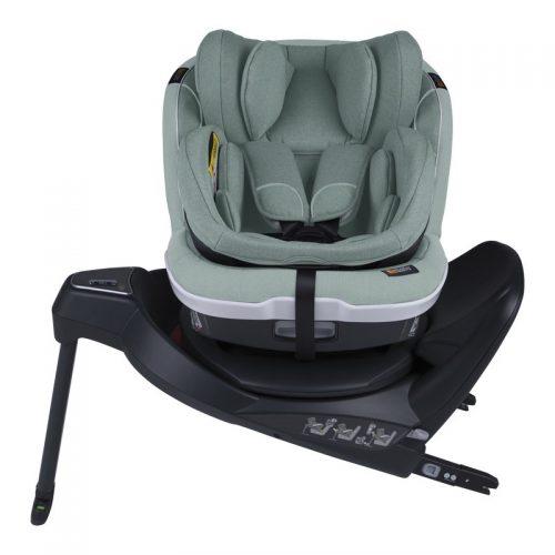 Fotelik samochodowy BeSafe iZi Twist B i-Size 0-18 kg ze specjalną wkładką dla noworodka, funkcja obrotu bokiem do drzwi, kolor Morska Zieleń
