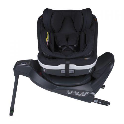 Fotelik samochodowy BeSafe iZi Twist B i-Size 0-18 kg ze specjalną wkładką dla noworodka, funkcja obrotu bokiem do drzwi, kolor Czarny Cab
