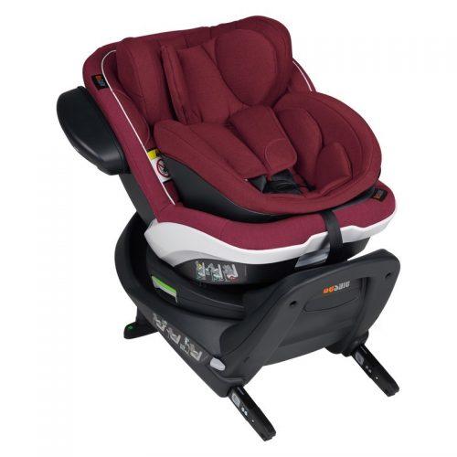 Fotelik samochodowy BeSafe iZi Twist B i-Size 0-18 kg ze specjalną wkładką dla noworodka, funkcja obrotu bokiem do drzwi, kolor Burgund