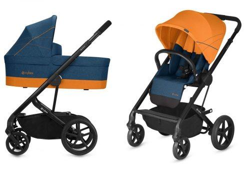 Wózek głęboko spacerowy Cybex Balios S zestaw 2w1 Tropical Blue