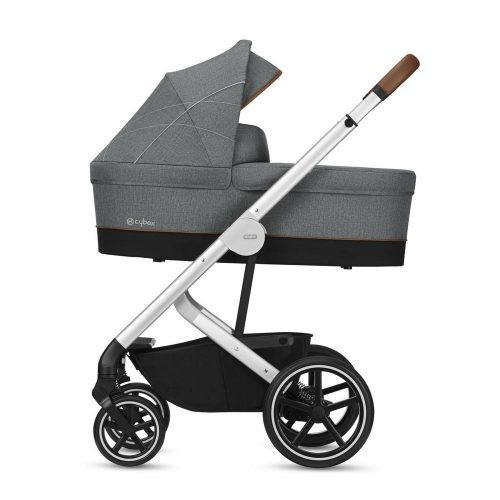 Wózek głęboko spacerowy Cybex Balios S Denim Collection zestaw 2w1 Manhattan Grey