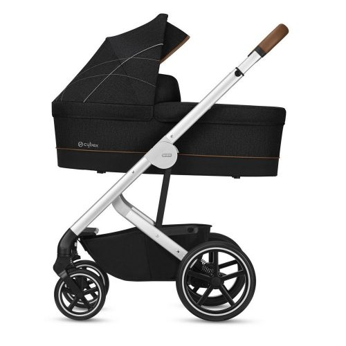 Wózek głęboko spacerowy Cybex Balios S Denim Collection zestaw 2w1 Lawastone Black
