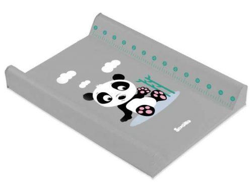 Przewijak na łóżeczko usztywniany 70x50 nadstawka na łóżeczko 120x60 Panda szara