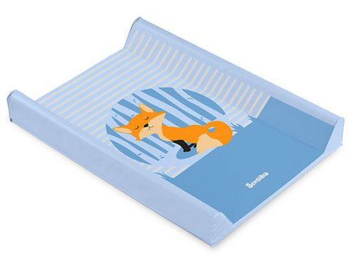 Nadstawka na łóżeczka 120x60 usztywniany przewijak 70x50 lis niebieski