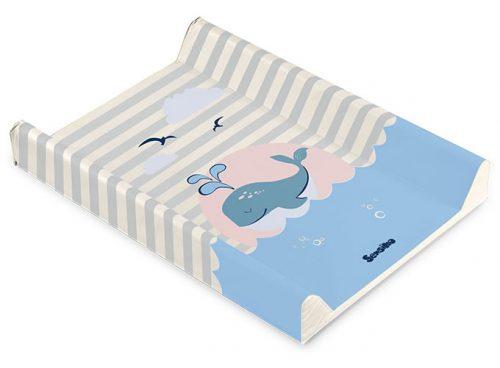 Nadstawka na łóżeczka 120x60 usztywniany przewijak 70x50 wieloryb beżowy
