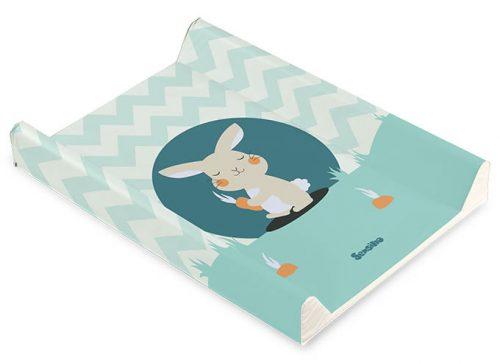 Nadstawka na łóżeczka 120x60 usztywniany przewijak 70x50 królik miętowy