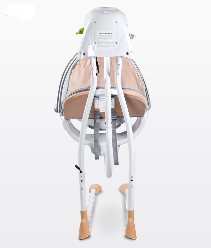 Huśtawka elektryczna Bugies firmy Caretero obracane siedzisko do 12 kg fioletowa