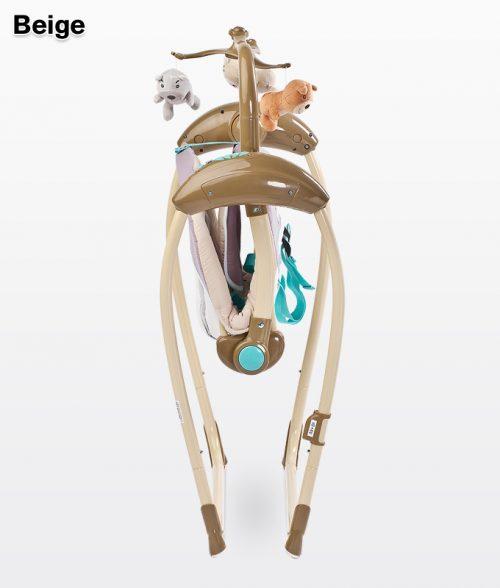 Huśtawka elektryczna na pilota do 12 kg melodie wibracje Loop Caretero beige
