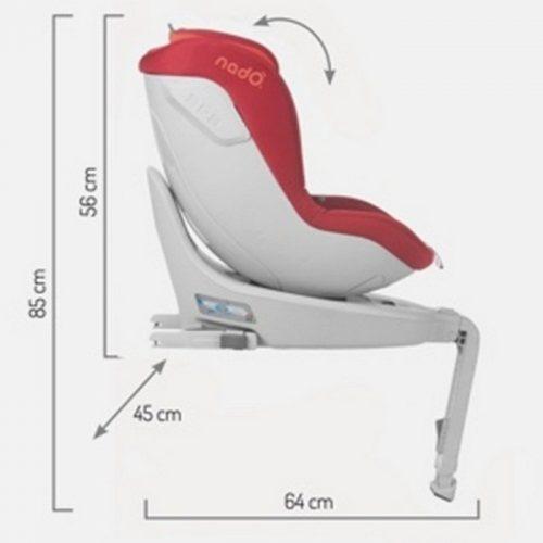 Fotelik samochodowy obrotowy 360 I-Size Nado Coeur 0-18 kg, Be Cool Grey