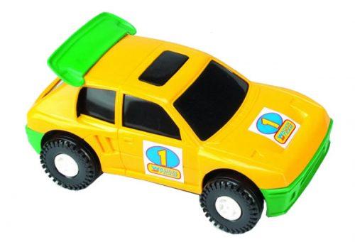 Wader Color Cars samochód auto 37082 zółto zielone 22cm