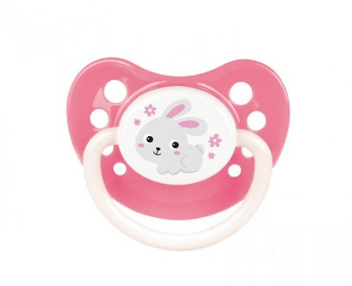 Smoczek kauczukowy anatomiczny Bunny Company 0-6m Canpol Babies Różowy