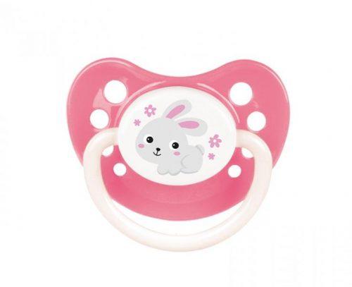 Smoczek kauczukowy anatomiczny Bunny Company 6-18 m Canpol Babies Różowy