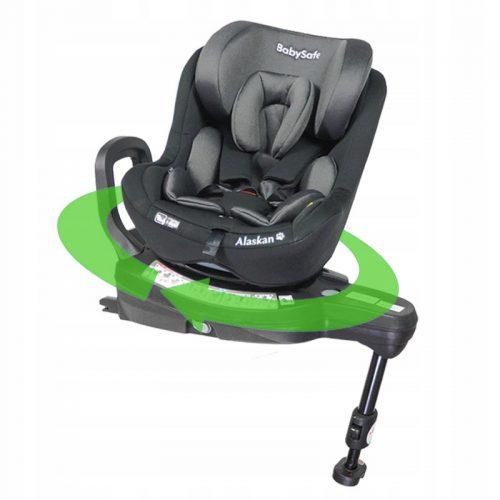 Fotelik samochodowy 0-18 kg i-Size Alaskan BabySafe Czarny plus gratis !