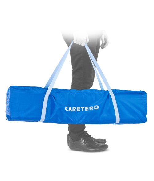 Kwadratowy kojec dziecięcy 100x100 Traveler firmy Caretero Grey