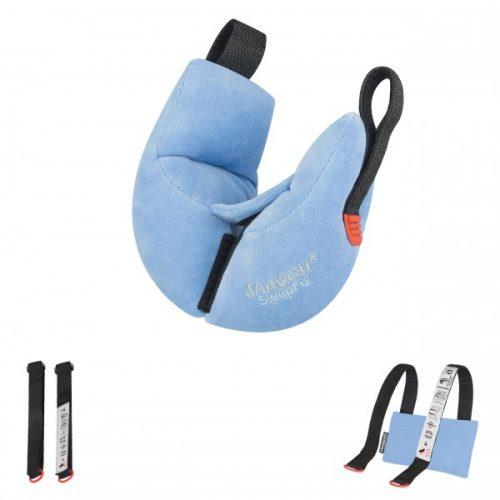 Poduszka podróżna stabilizacyjna SleepFix Baby Sandini od 0 do18 mc niebieska