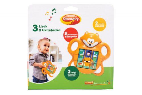 Muzyczna układanka dla dzieci 3 obrazki Lisek Dumel DD74130