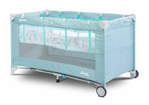 Łóżeczko turystyczne Caretero Basic Plus niebieskie