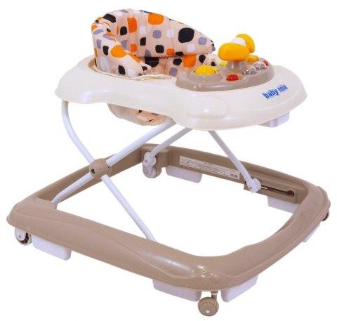Chodzik dla dziecka z silikonowymi kółkami beżowy