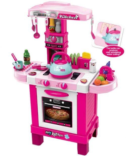 Duża kuchnia dla dzieci na baterie 64x87x29 cm