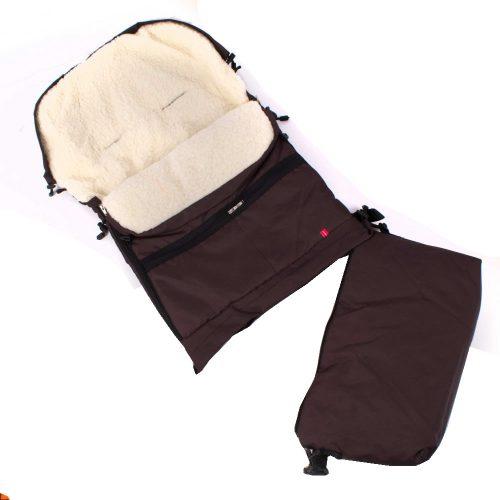 Śpiworek do wózka sanek wielofunkcyjny Dyzio 80-110 cm Brązowy + torba
