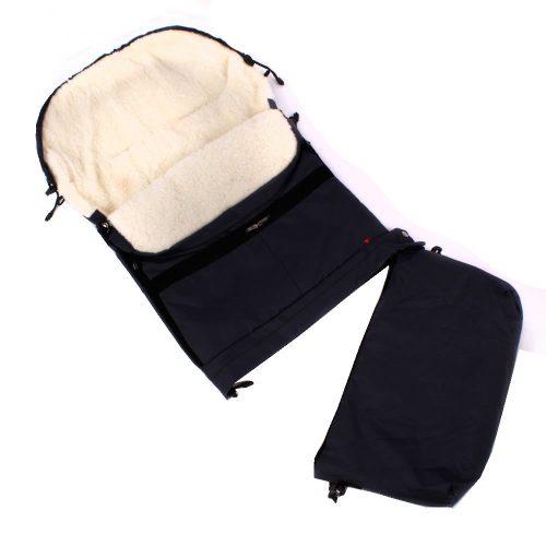 Śpiworek do wózka sanek wielofunkcyjny Dyzio 80-110 cm Czarny + torba do wózka