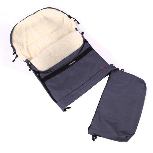Śpiworek do wózka sanek wielofunkcyjny Dyzio 80-110 cm Grafitowy + torba do wózka