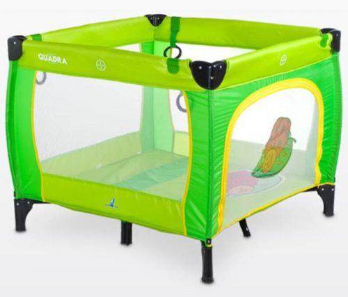 Kwadratowy kojec dziecięcy Quadra, firmy Caretero Green