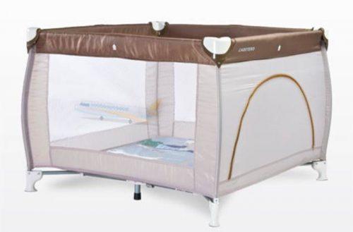 Kwadratowy kojec dziecięcy 100x100 Traveler firmy Caretero Beige