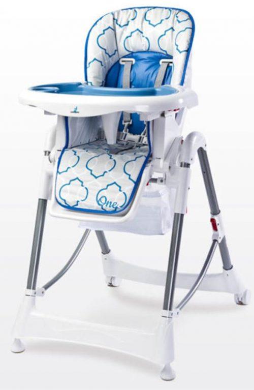 Krzesełko do karmienia regulacja wysokości tacka, Caretero Blue