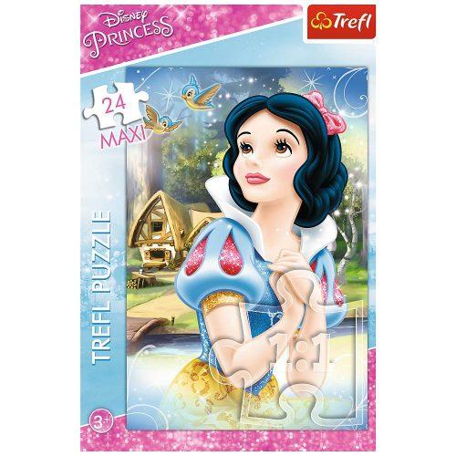 Trefl Puzzle maxi 24el. Księżniczki: Rozmarzona Śnieżka