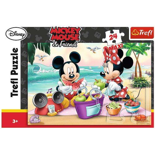 Trefl Puzzle maxi 24el. Myszka Miki: Piknik na plaży