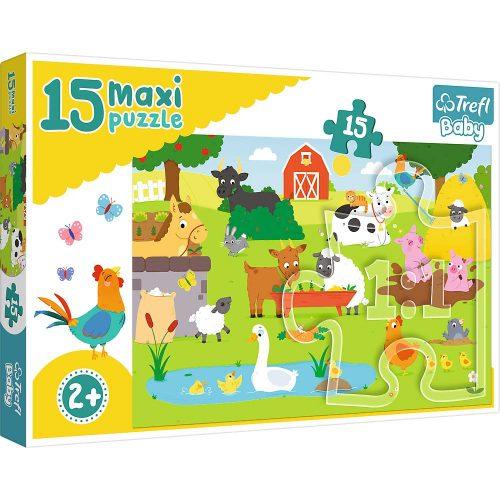 Trefl Puzzle Baby maxi 15el. Zwierzęta na wsi